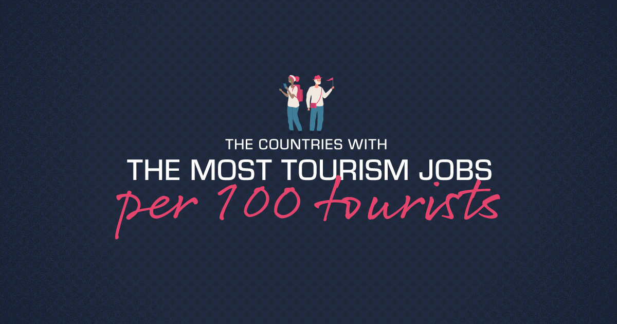 The Countries With The Most Tourism Jobs Per 100 Tourists